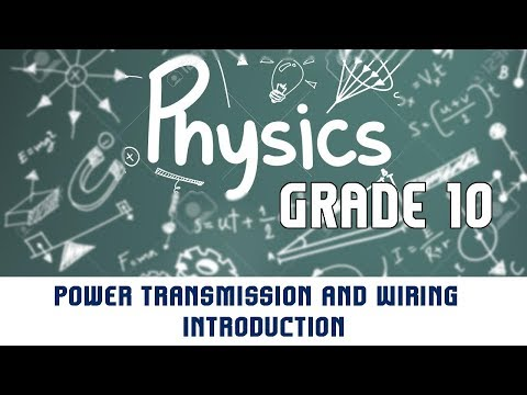 10.4 | Electrical Energy | Power Transmission and Wiring | Introduction