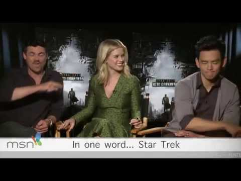 Karl Urban,John Cho and Alice Eve Interview-STID