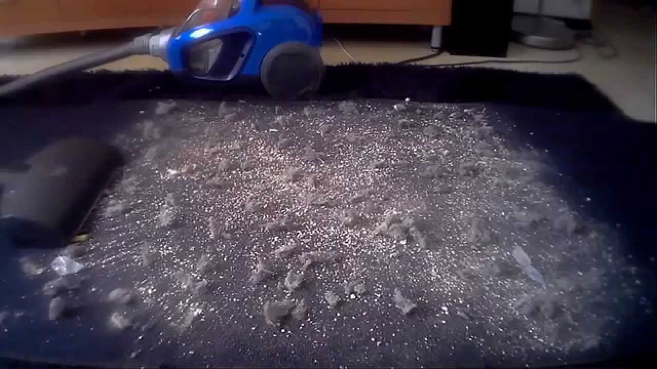 Vacuuming very dirty carpet with Electrolux UltraPerformer ...