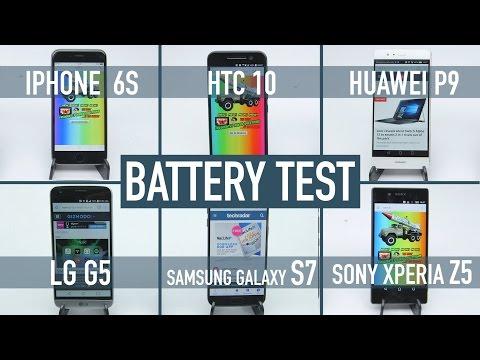 Smartphone battery test: iPhone 6S v Galaxy S7 v HTC 10 v LG G5 v Huawei P9 v Xperia Z5