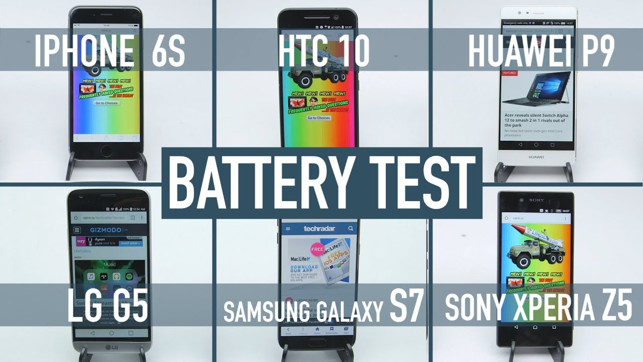 iphone battery test smartphone battery test iphone 6s v galaxy s7 v htc 10 v 11646