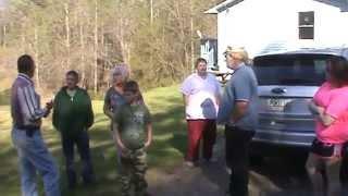 Mr Billy Redden at the site of the banjo scene in the movie Deliverance.
