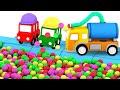 4машинки для малышей— Собираем водовоз истроим бассейн— Мультфильмы для самых маленьких