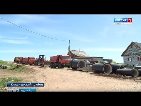 Тротуар, остановка, освещение: в деревне Ирмарь строят дорогу