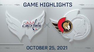 NHL Highlights   Capitals vs. Senators - Oct. 25, 2021