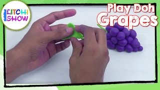 Making Of Easy Play Doh Grapes| Clay Modelling Grapes For Kids | How To Make Play Doh Fruits Grapes