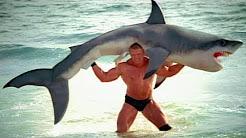 Brock Lesnar F5s a shark: SummerSlam 2003 commercial