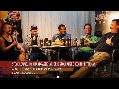 'Super Troopers 2' Interview   Steve Lemme, Jay Chandrasekhar, Erik Stolhanske, Kevin Heffernan