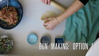 Pepper bun in the making  胡椒餅製作