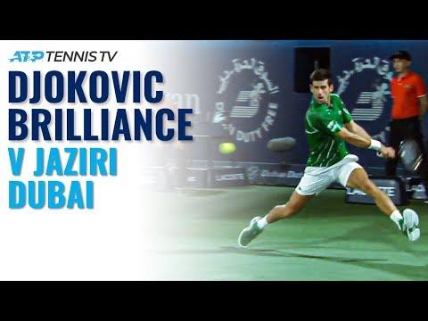 brilliant-novak-djokovic-points-vs-jaziri-|-dubai-2020-highlights