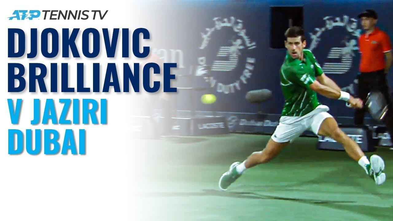 Brilliant Novak Djokovic Points vs Jaziri   Dubai 2020 Highlights