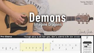 Demons - Imagine Dragons | Fingerstyle Guitar | TAB + Chords + Lyrics