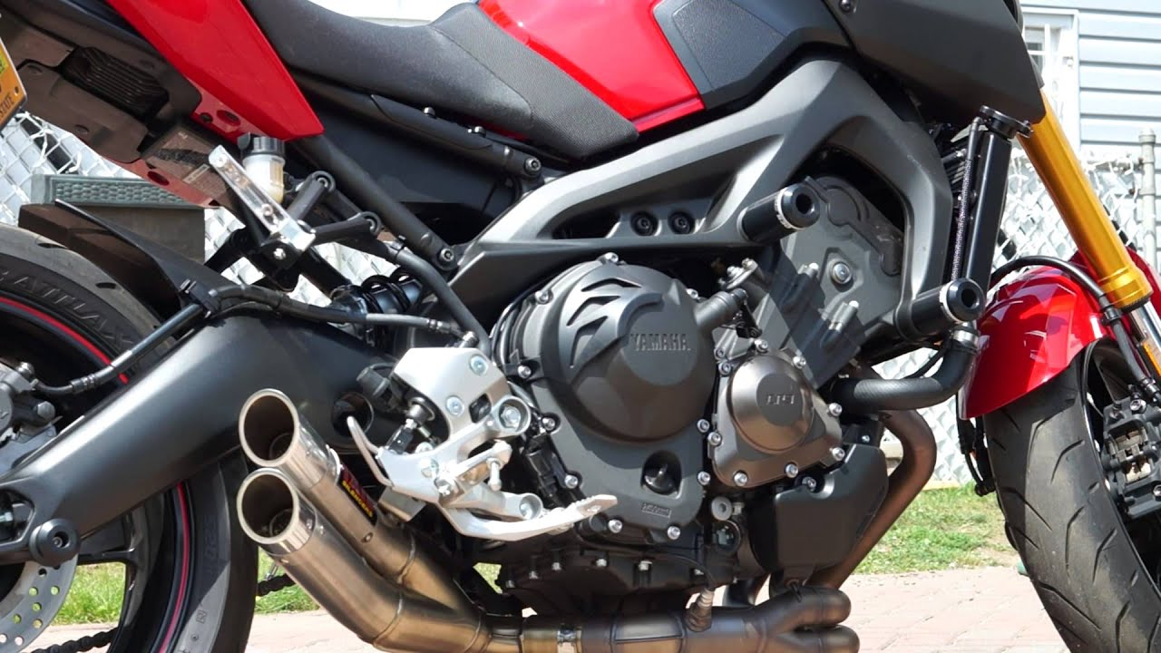 yamaha fz09 ixil exhaust youtube
