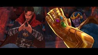 dr strange vs thanos y las 6 gemas del infinito sin ayuda o strickers marvel future fight