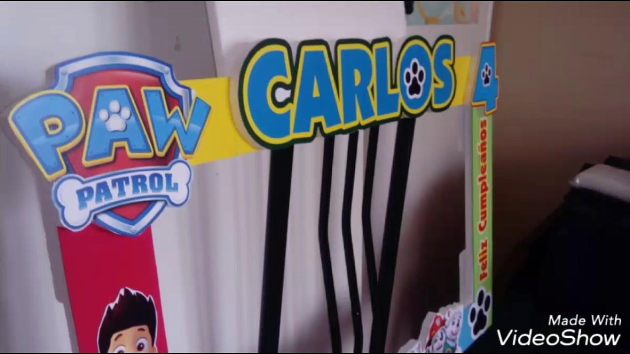 Smtg Diseño Gráfico Marcos Selfys de Paw Patrol - YouTube