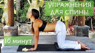 УПРАЖНЕНИЯ ДЛЯ СПИНЫ. Лечение позвоночника и поддержание здоровья. Три упражнения на 10 минут(, 2014-10-21T10:35:17.000Z)