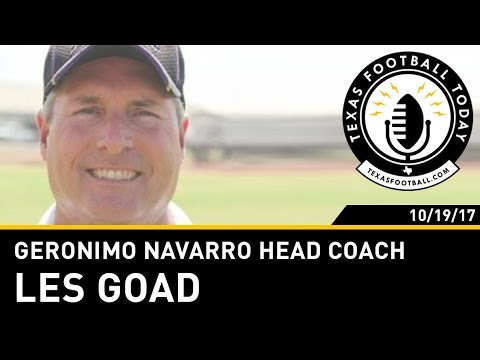 Texas Football Today Interview Geronimo Navarro Head Coach Les Goad