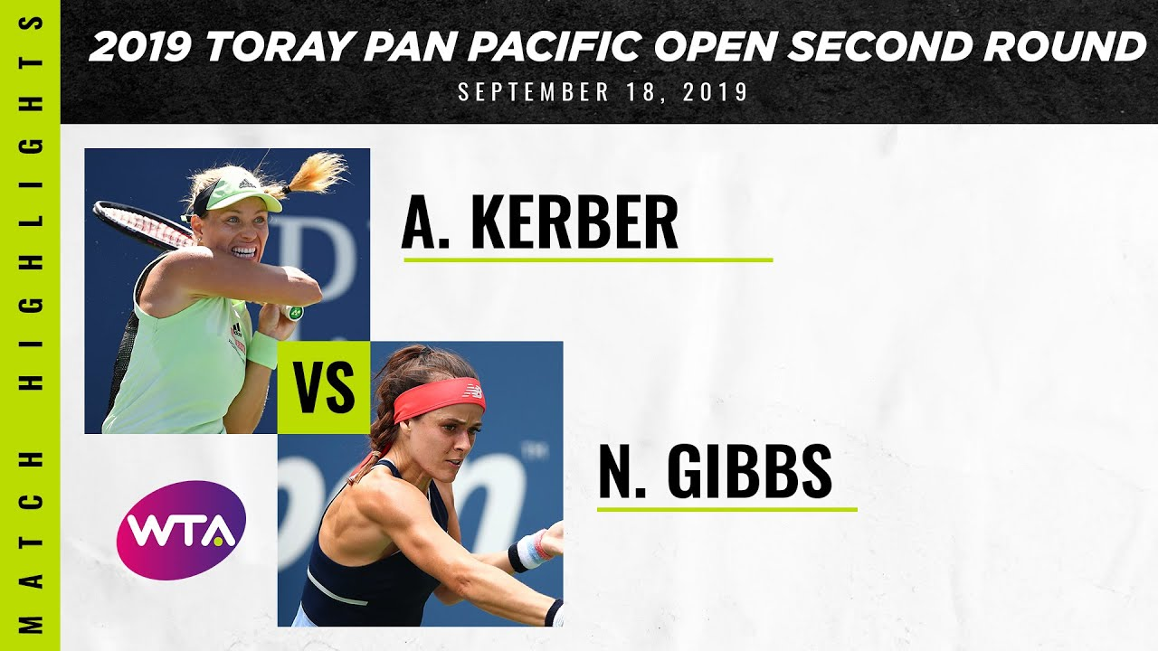 Angelique Kerber vs. Nicole Gibbs | 2019 Osaka Second Round | WTA Highlights