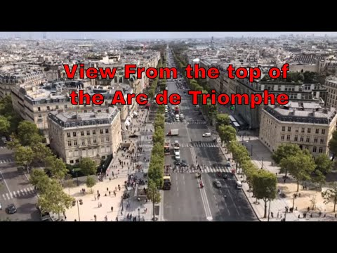 Above Paris - View from the Arc de Triomphe