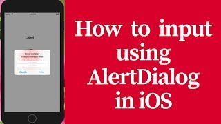 How to input using alert dialog in ios