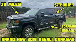 Rebuilding a Totaled 2019 GMC Denali Duramax With Only 39 Miles