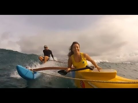 Outrigger Canoes Surfing Waves (vol.1)