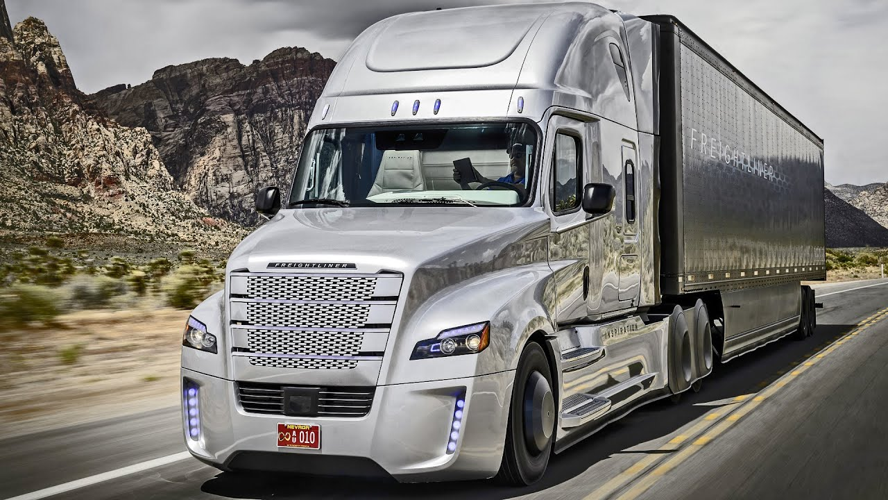 Freightliner Inspiration Truck First Autonomous Driving On Public Roads You
