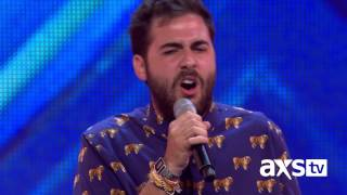 "Andrea Faustini sings Otis Redding's ""Try A Little Tenderness"" - The X Factor UK on AXS TV"