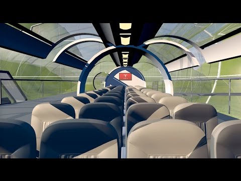 Hyperloop Transport Concept - 3D Animation