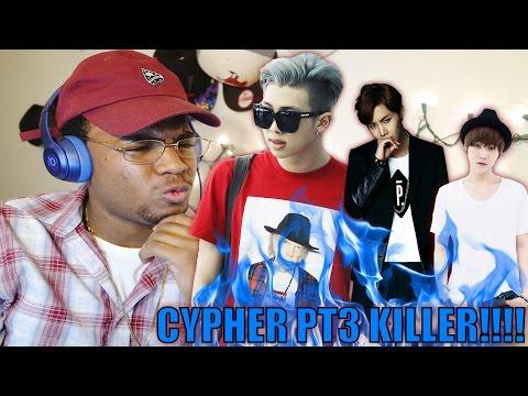BTS REACTION CYPHER PT 3 KILLER!!!  (eng sub)