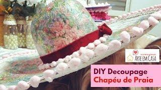 Como Customizar um Chapéu de Praia com Decoupagem