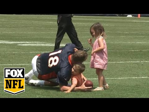 Peyton Manning's adorable practice with his kids