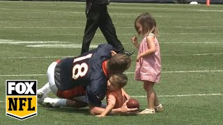 Peyton Manning s adorable practice with his kids