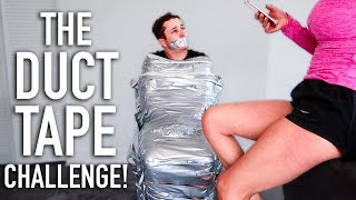 GIRLFRIEND DUCT TAPES BOYFRIEND TO CHAIR!! (CHALLENGE)