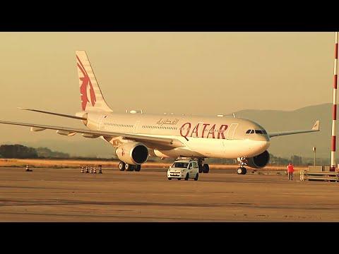 Qatar Airways Inaugural Flight to Pisa, Italy