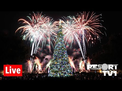 🔴Live: Epcot Candlelight Processional & Holiday Illuminations Live Stream - 11-23-18