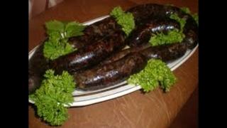 Приготовление кровянной колбасы