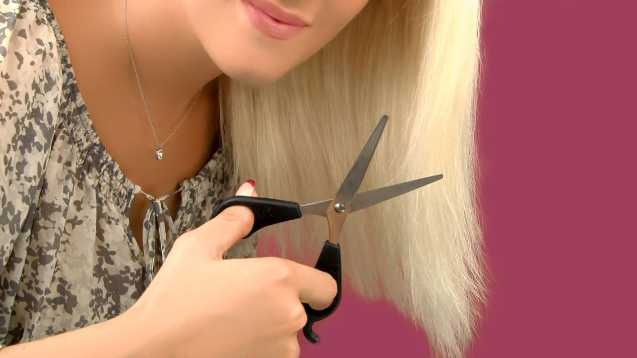 How To Cut Your Own Hair And Trim Split Ends At Home Youtube