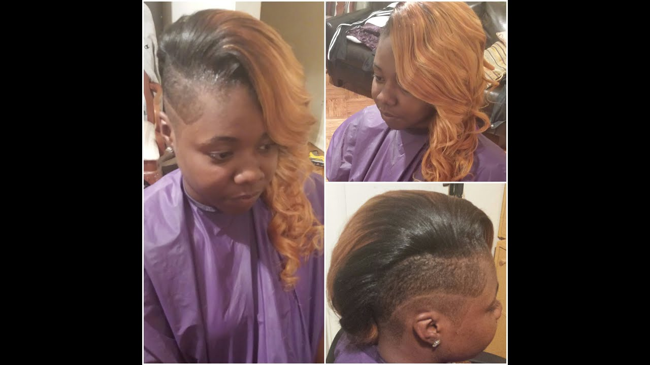 Sewin weave shaved sides