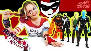 ХАРЛИ КВИН и команда супер злодеев против БЭТМЕНА и СУПЕРМЕНА Супергерои в реальной жизни
