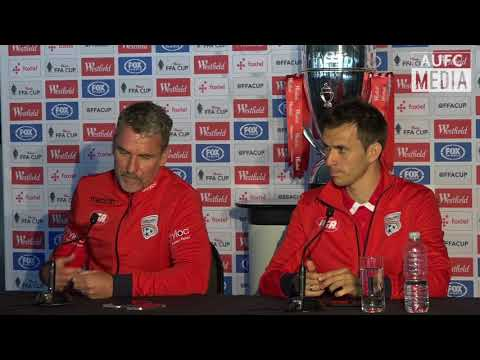 Marco Kurz & Isaías Westfield FFA Cup Grand Final press conference