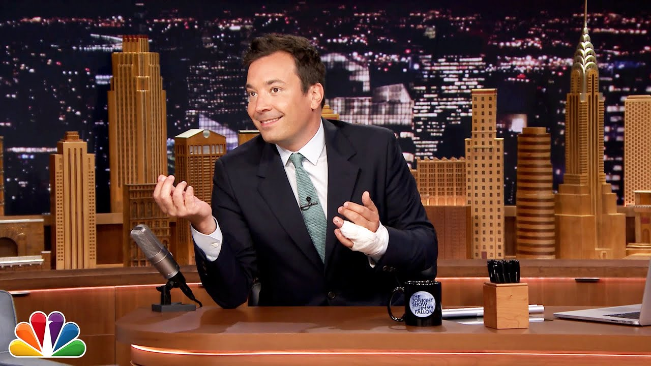 Jimmy Fallon Explains His Finger Injury Youtube