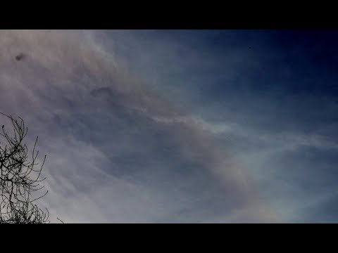 Circular Anomaly In Clouds With Two Nearby Objects