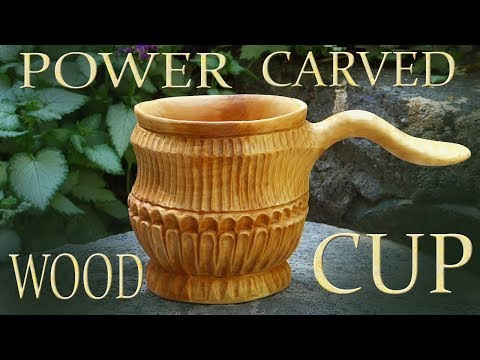 Carving A Juniper Burl Into A  Cup And Talking About Power Tools I Use