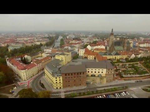 city of Hradec Kralove 2015 - Bird's view - 4K