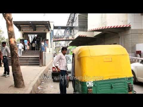 Jahangir Puri metro station on yellow line of Delhi metro