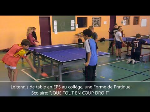 Une Forme De Pratique Scolaire En Tennis De Table Joue Tout En