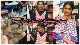 Ameerpet Street Shopping Haul | Hyderabad Street Shopping | అమీర్ పేట్ Haul |nayalooks | Navya Varma