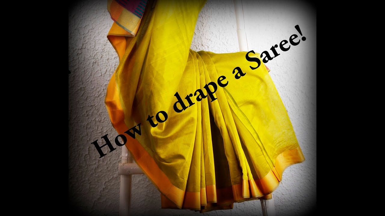 how to wear indian saree video
