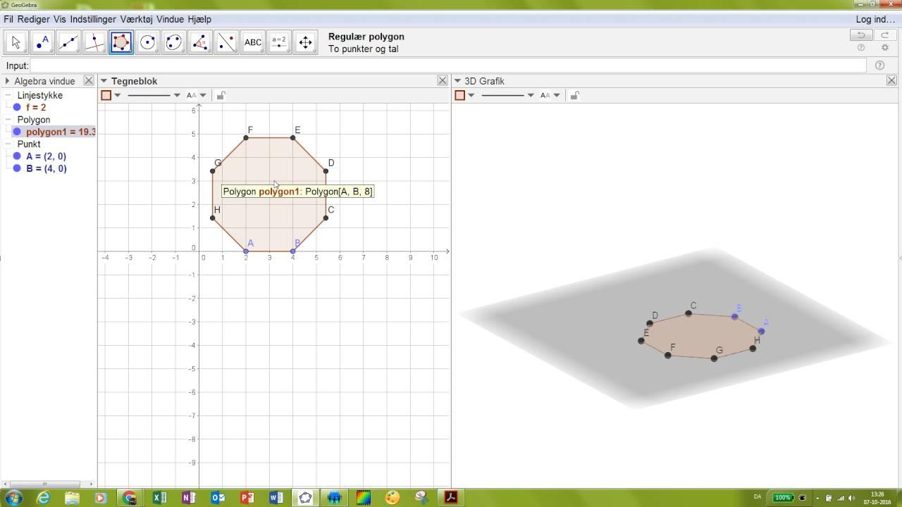 3D - Drej punkt om linje - rundet terning